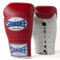 Sandee Authentic Lace Up Fight Gloves - Red